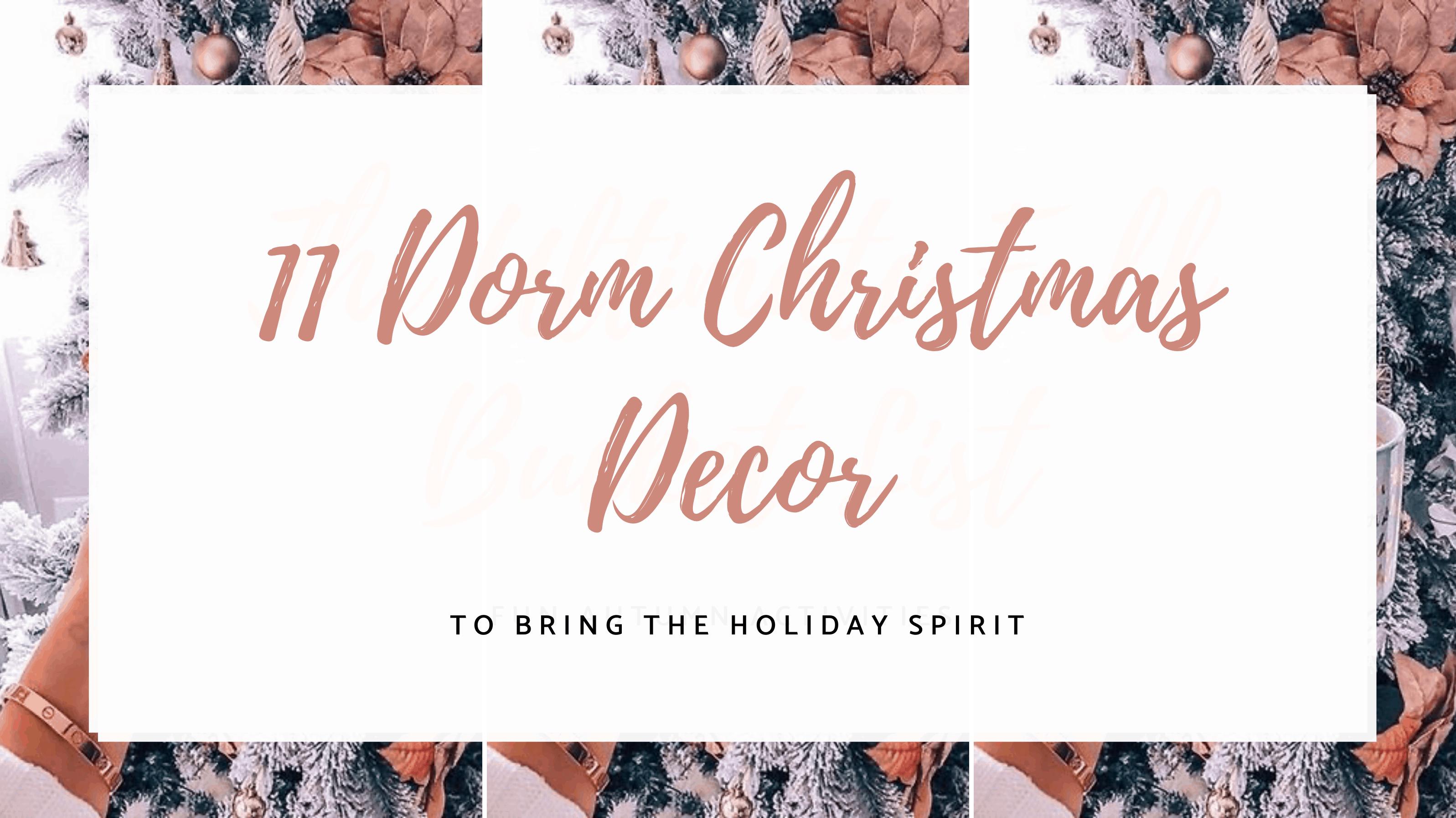 Dorm christmas decorations room ideas