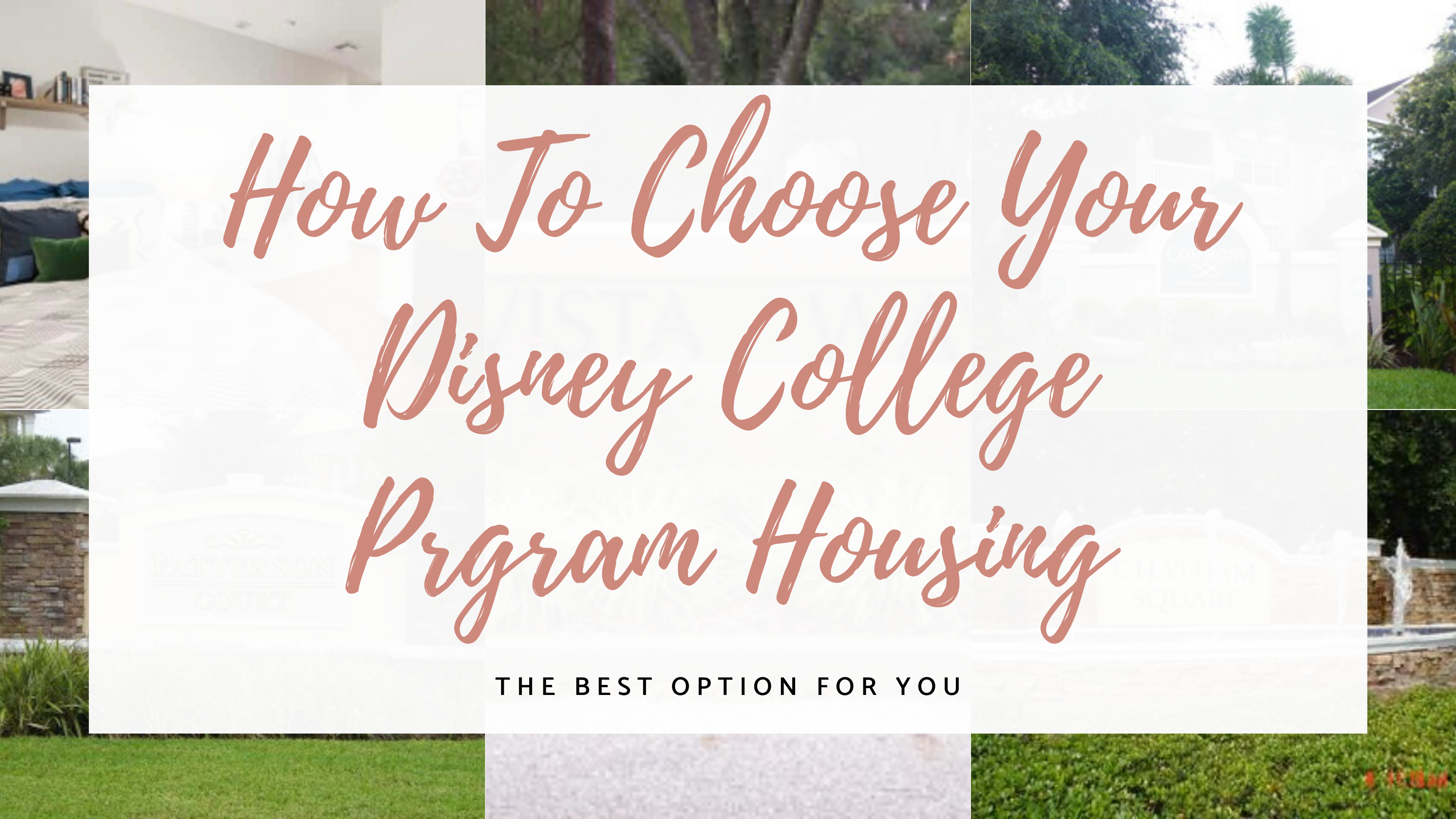 Disney college program housing