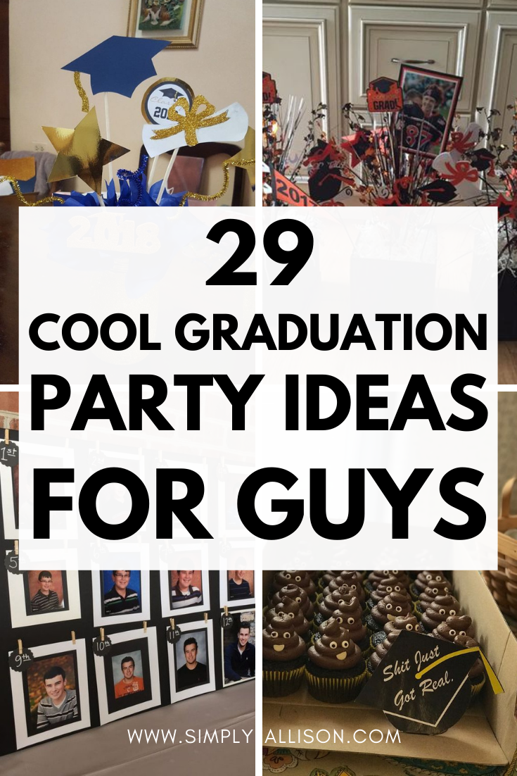 Outdoor graduation party ideas for guys