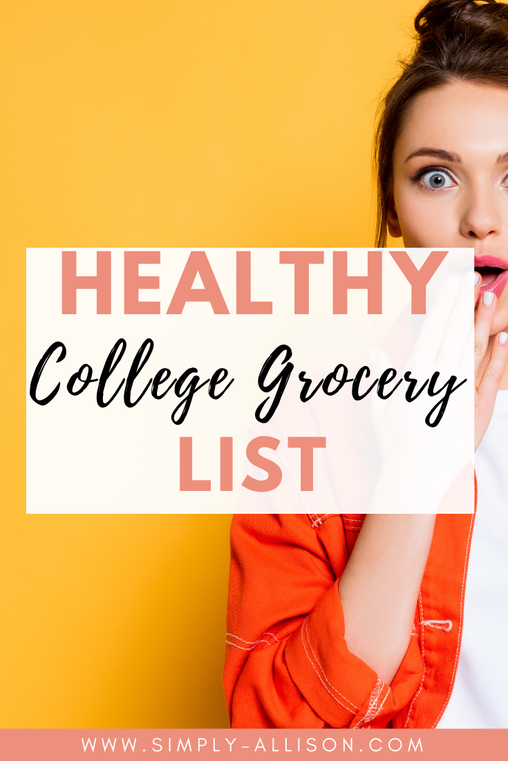 college grocery list