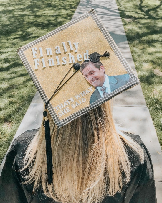 graduation cap ideas the office