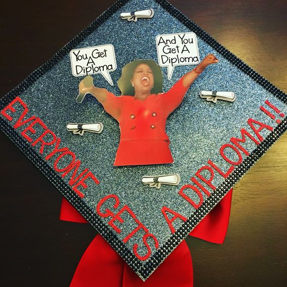 oprah graduation cap ideas