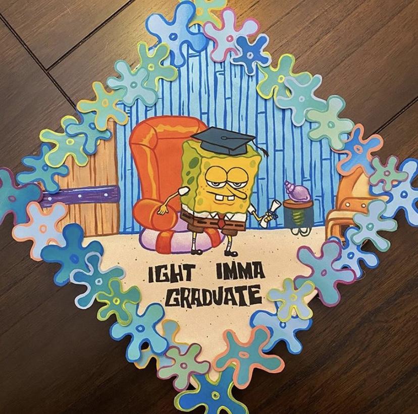 spongebob grad cap designs