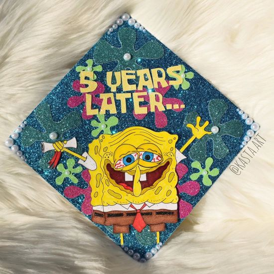 spongebob graduation cap