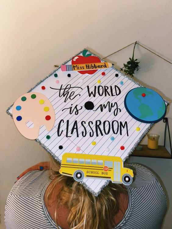 teacher graduation cap ideas